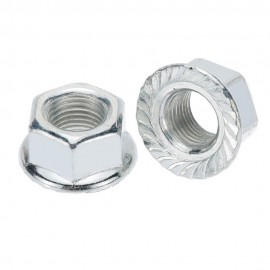 """STEEL 3/8"""" 26 TPI AXLE NUTS CHROME (Each)"""