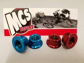 """MCS ED 3/8"""" (10mm) HUB AXLE NUTS (Pair)"""