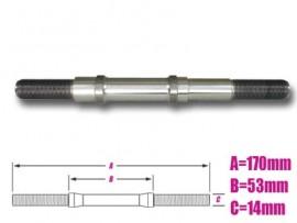 PROFILE 14mm Hollow Ti Cassette Axle