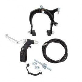 LEE CHI MX BRAKE SET REAR / FRONT BLACK