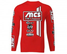 MCS LONG SLEEVE JERSEY RED/BLACK