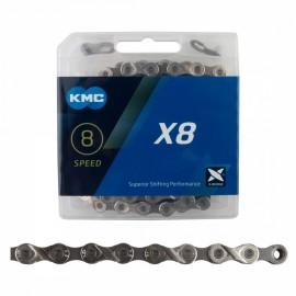 """KMC X8 3/32"""" CHAIN SILVER (X8.93)"""