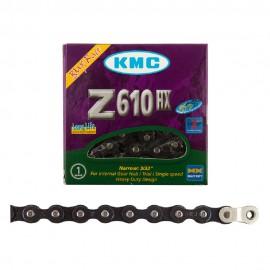 """KMC Z610HX 1/2x3/32"""" PREMIUM CHAIN GUN METAL BLACK"""