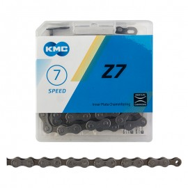 "KMC Z7 1/2x3/32"" 116L CHAIN GREY/BROWN"