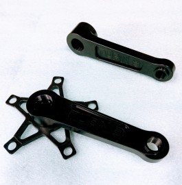 TURN3 RACING SOLID ALUMINUM MINI CRANK ARMS BLACK - 125-130mm