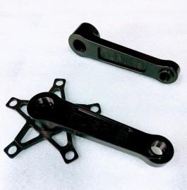 TURN3 RACING SOLID ALUMINUM MINI CRANK ARMS BLACK - 125-130mm