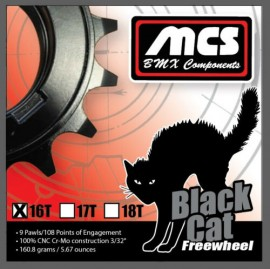 "MCS BLACK CAT CR-MO 3/32"" FREEWHEEL BLACK"