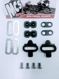 MCS SPD PEDAL CLEAT KIT BLACK