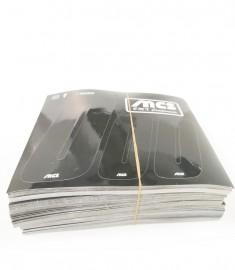 """MCS 3"""" NUMBERPLATE & 2"""" SIDEPLATE COMPLETE NUMBER KIT BLACK"""