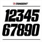 "TANGENT 3"" NUMBERPLATE NUMBERS BLACK"