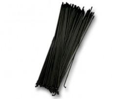 STAINLESS STEEL SPOKES (75/Bag) BLACK