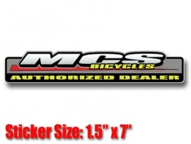 MCS Authorized Dealer Decal