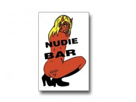 BULLY Nudie Bar Sticker LARGE